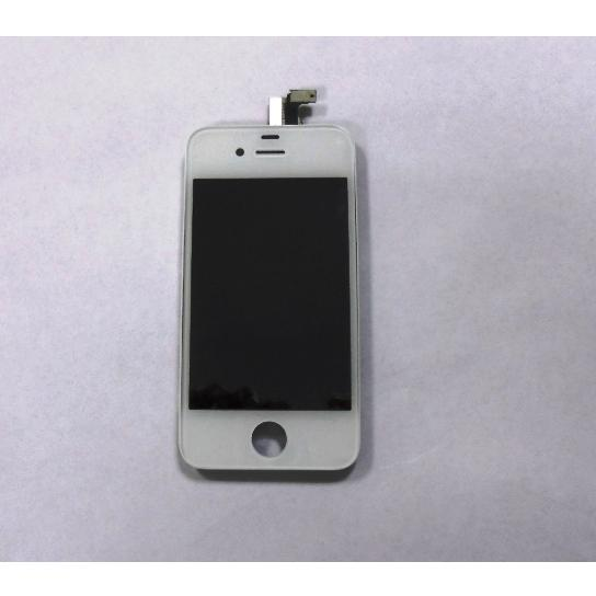 DISPLAY LCD + TOUCH SCREEN CON FRAME IPHONE 4S BIANCO + CUSTODIA OMAGGIO