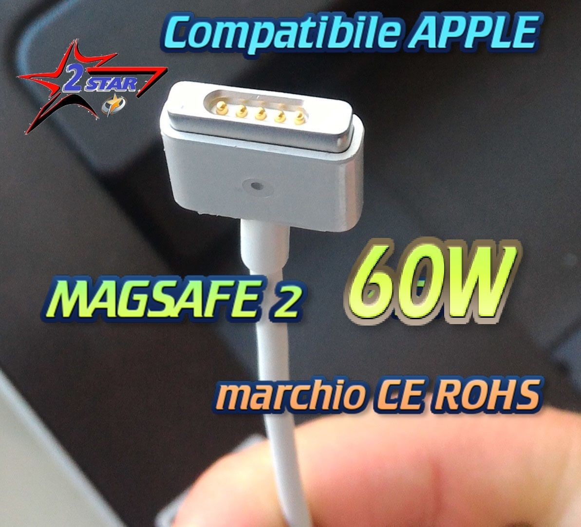 Alimentatore 60W per MacBook Pro  caricabatterie MagSafe 2 MACBOOK