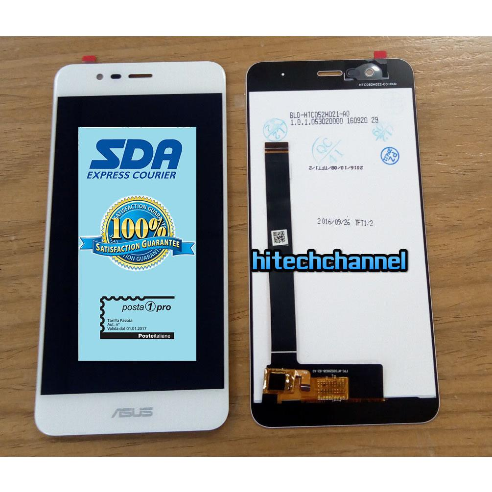 Touch screen lcd display per ASUS ZENFONE 3 MAX ZC520TL X008D  BIANCO +BIADESIVO