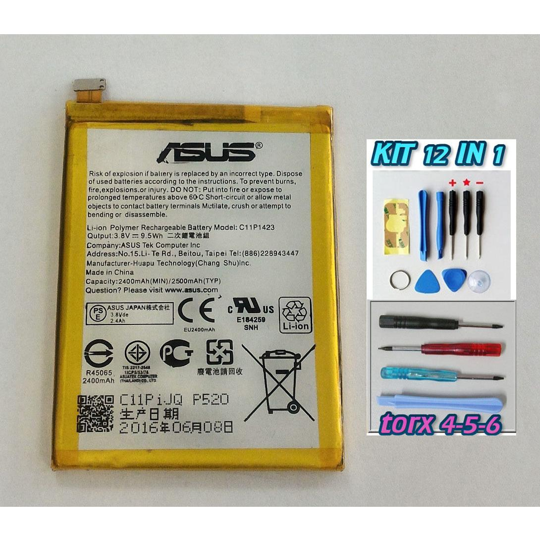 Batteria ASUS C11P1423 da 2500 mAh ORIGINALE per ZE500CL+KIT 12 IN 1