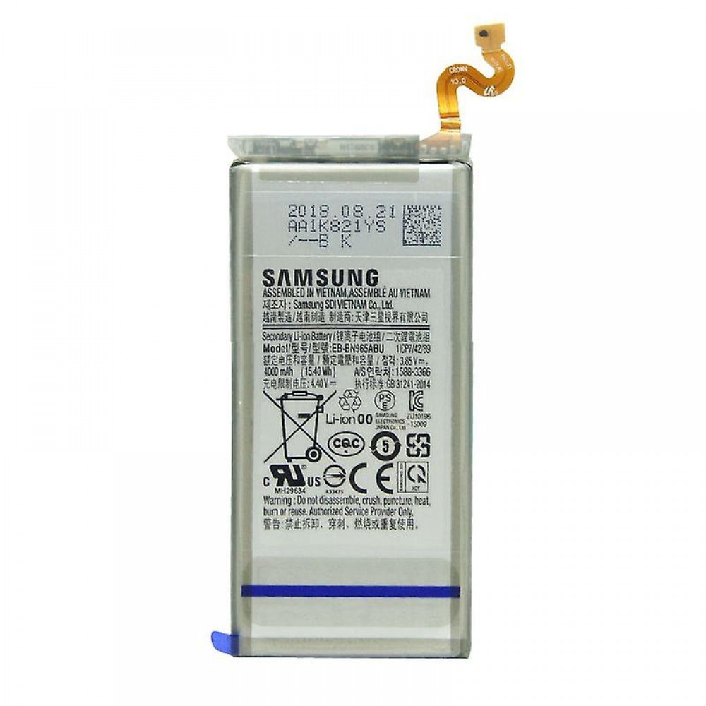 Batteria EB-BN965ABU per SAMSUNG Galaxy NOTE 9 SM-N960 da 4000mAh +kit 9 in 1 biadesivo e colla b7000