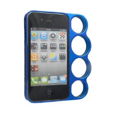 Iphone 4G 4S Knuckle Case Anelli Blue