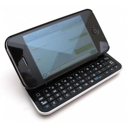 TASTIERA BLUETOOTH SLIDE AND STAND IPHONE 4G 4S NERA
