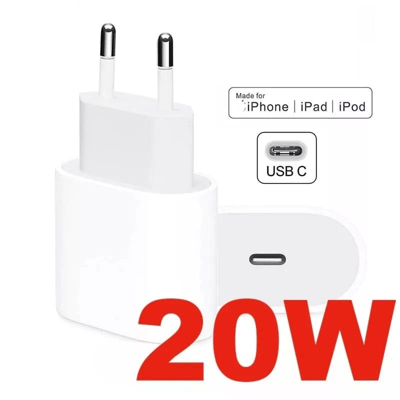 Alimentatore Caricabatterie Rapido da 20W type C PER Apple IPHONE 12 / 12 PRO/ 12 MINI