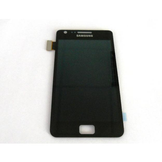 Display e Touch Screen Samsung i9100 Galaxy S2 Nero + Custodia Omaggio Più Biadesivo