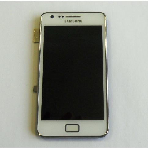 DISPLAY I9100 S2 TOUCH SCREEN FRONT COVER BIANCO + custodia