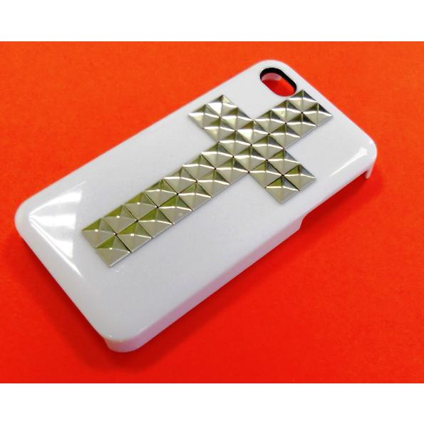 Custodia Bullet Case Iphone 4G 4S Croce Silver Bianca