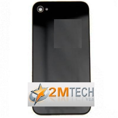 Cover Posteriore Vetro Nera iPhone 4S A1387 Apple Custodia Omaggio