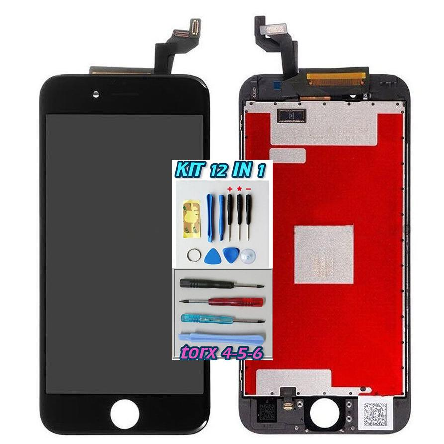 iPhone 6S LCD Nero Touch Screen Apple Display + Kit Smontaggio 12 in 1 A1633  A1634  A1688  A1687  A1699  A1700
