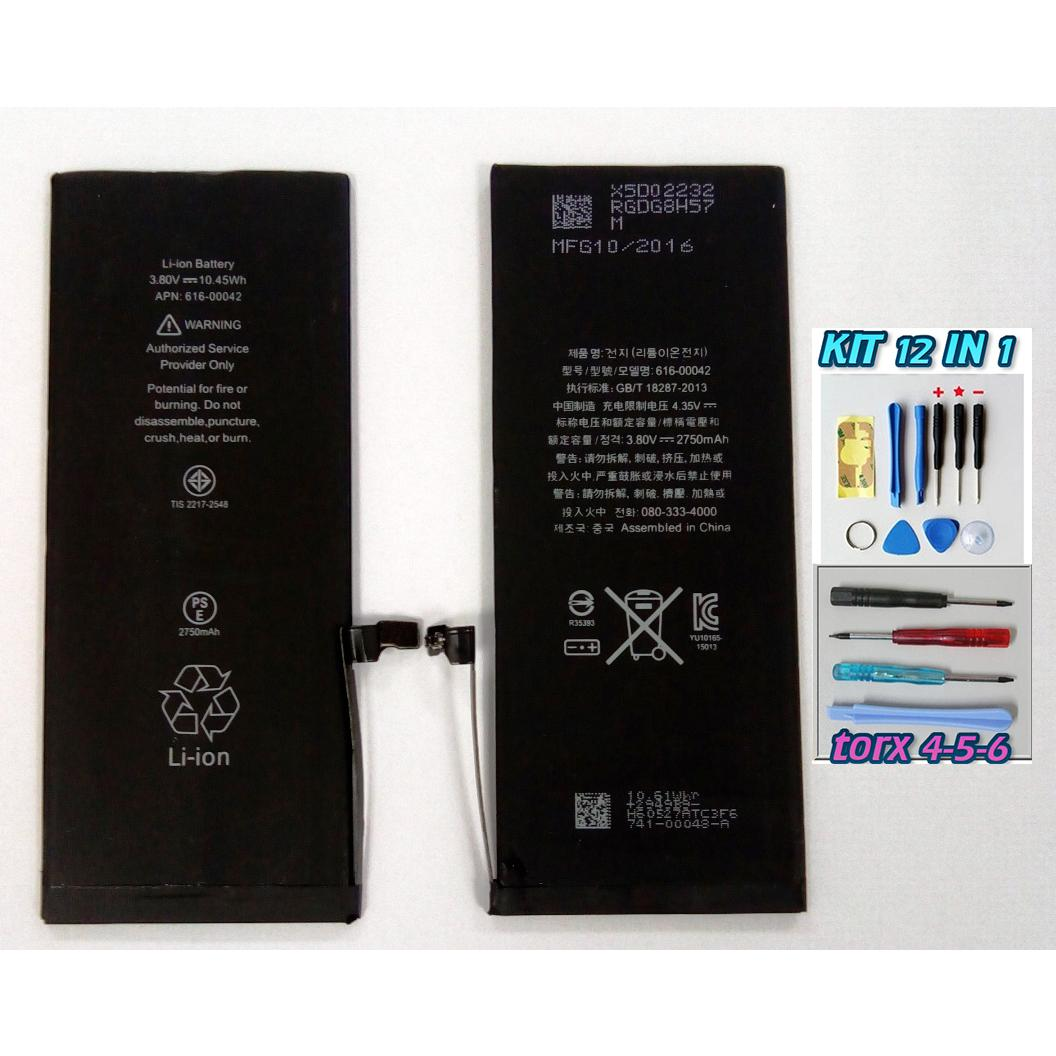 BATTERIA per APPLE IPHONE 6S PLUS da 2715 mAh nuova OEM + kit 12 in 1