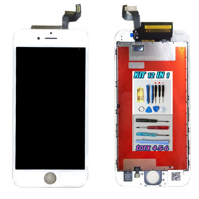 iPhone 6S PLUS LCD Bianco Touch Screen Apple Display + Kit Smontaggio 12 in 1 A1634 A1687 A1699