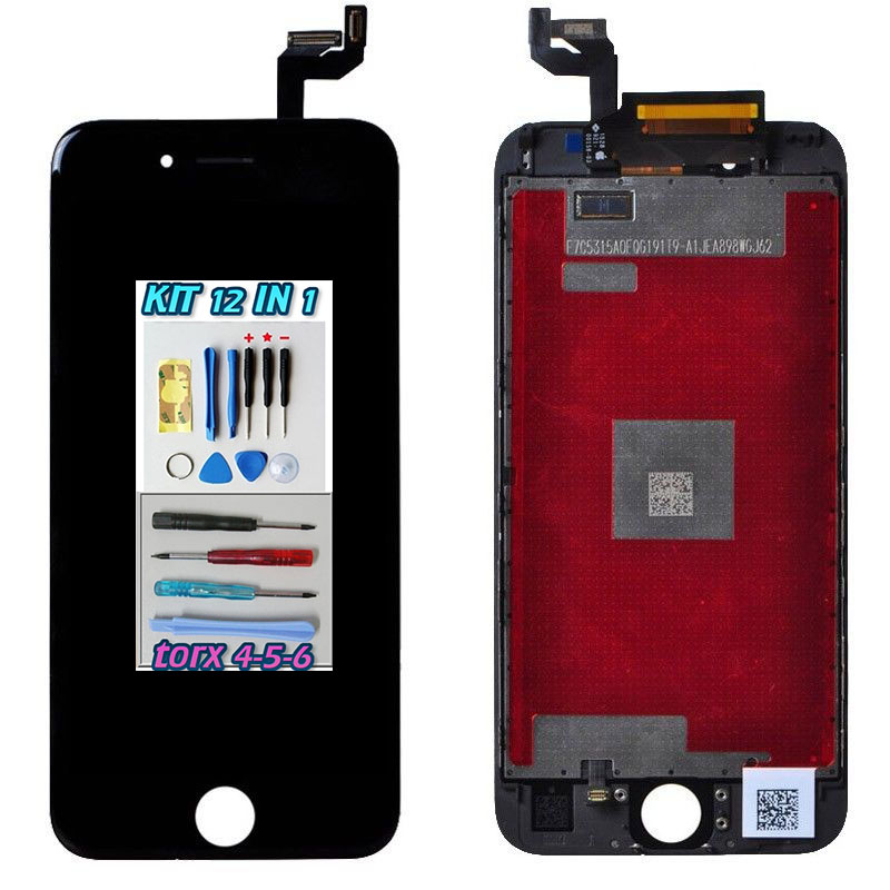 iPhone 6S PLUS LCD Nero Touch Screen Apple Display + Kit Smontaggio 12 in 1 A1634 A1687 A1699