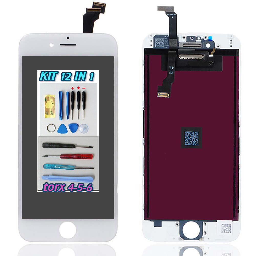 Display LCD Touch Screen Bianco Apple iPhone 6  A1549 A1586 + kit 12 in 1 smontaggio
