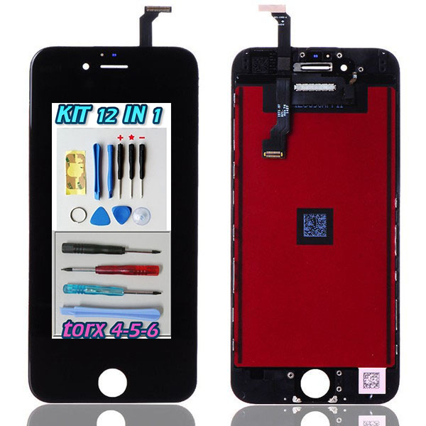 Display LCD Touch Screen Nero Apple iPhone 6  A1549 A1586 + kit 12 in 1 smontaggio