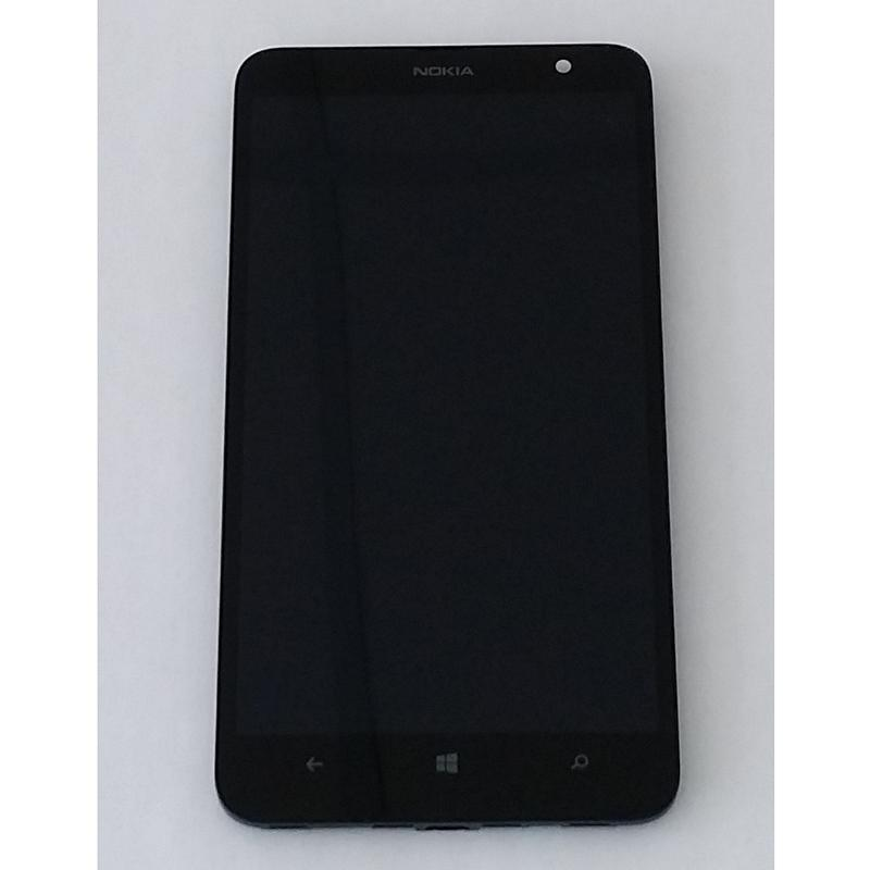 Nokia Lumia 1320 RM-996 Frame LCD Display Touch Screen Nero