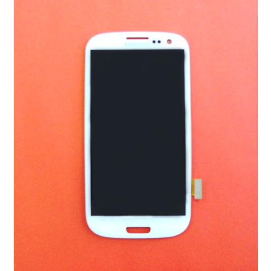 Display e Touch Screen Bianco  i9300 Galaxy S3 + CUSTODIA OMAGGIO