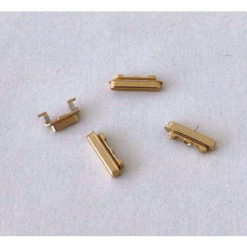 KIT PULSANTI ESTERNI COMPLETO 4 PEZZI GOLD ORO PER APPLE IPHONE 6 PLUS 5.5