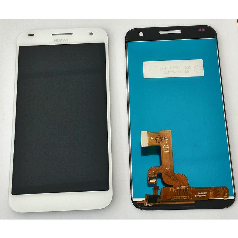 Display Touch Screen con frame Bianco Huawei Ascend G7  Vetro  + Biadesivo