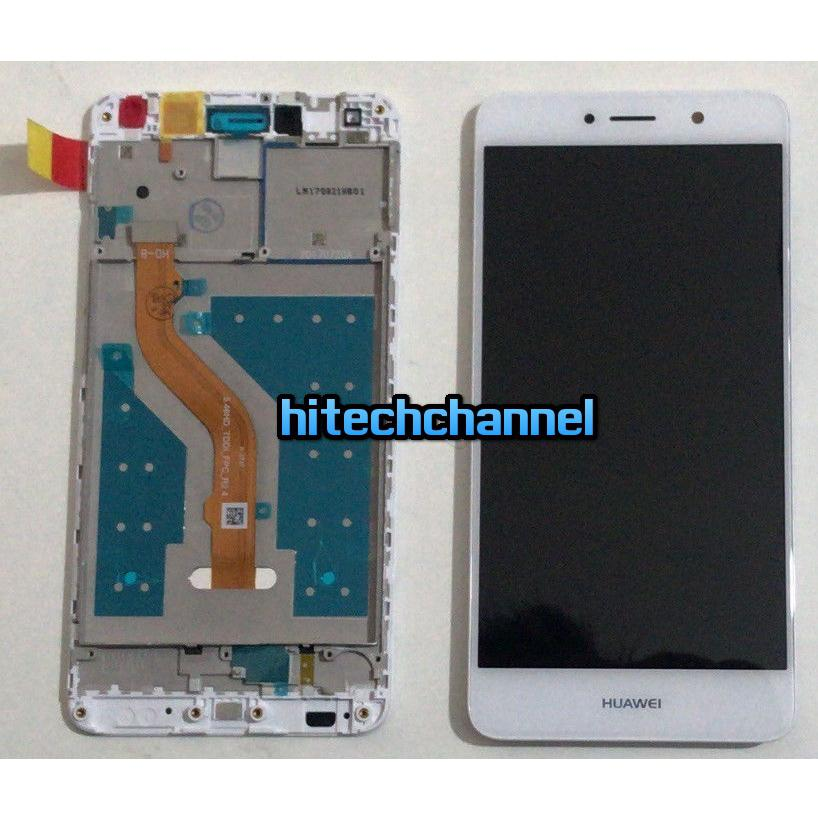 Touch screen display lcd con frame HUAWEI NOVA LITE PLUS Y7 2017 TRT-LX1 BIANCO assemblato + colla B7000 + kit 9 in 1+biadesivo