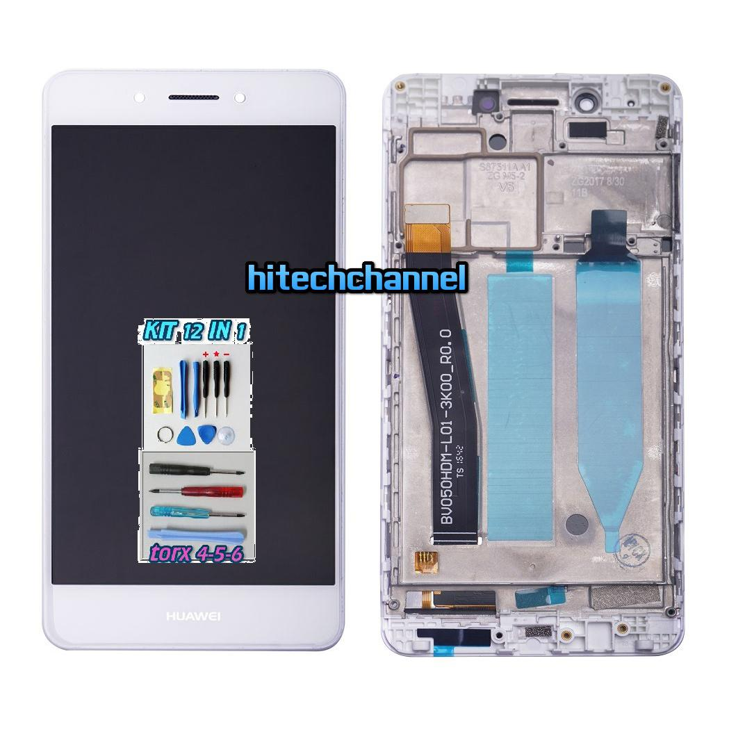 Touch Screen Display LCD FRAME BIANCO Huawei NOVA SMART DIG-L01 +colla B7000 e kit 9 in 1 e biadeisivo