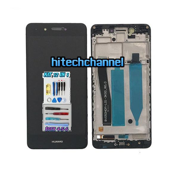 Touch Screen Display LCD FRAME NERO Huawei NOVA SMART DIG-L01 +colla B7000 kit 9 in 1 e biadesivo