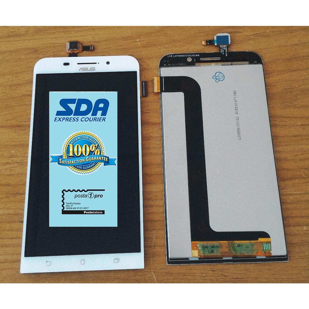 Touch screen lcd display bianco per ASUS ZENFONE MAX ZC550KL Z010D  biadesivo
