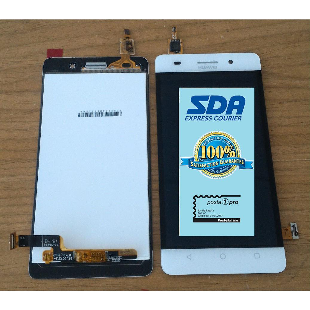 Touch screen lcd display frame bianco per HUAWEI G PLAY MINI +BIADESIVO