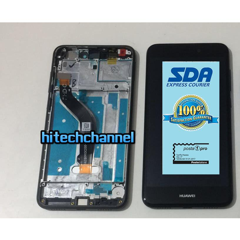 TOUCH SCREEN LCD DISPLAY CON FRAME HUAWEI ASCEND P8 LITE 2017 nero
