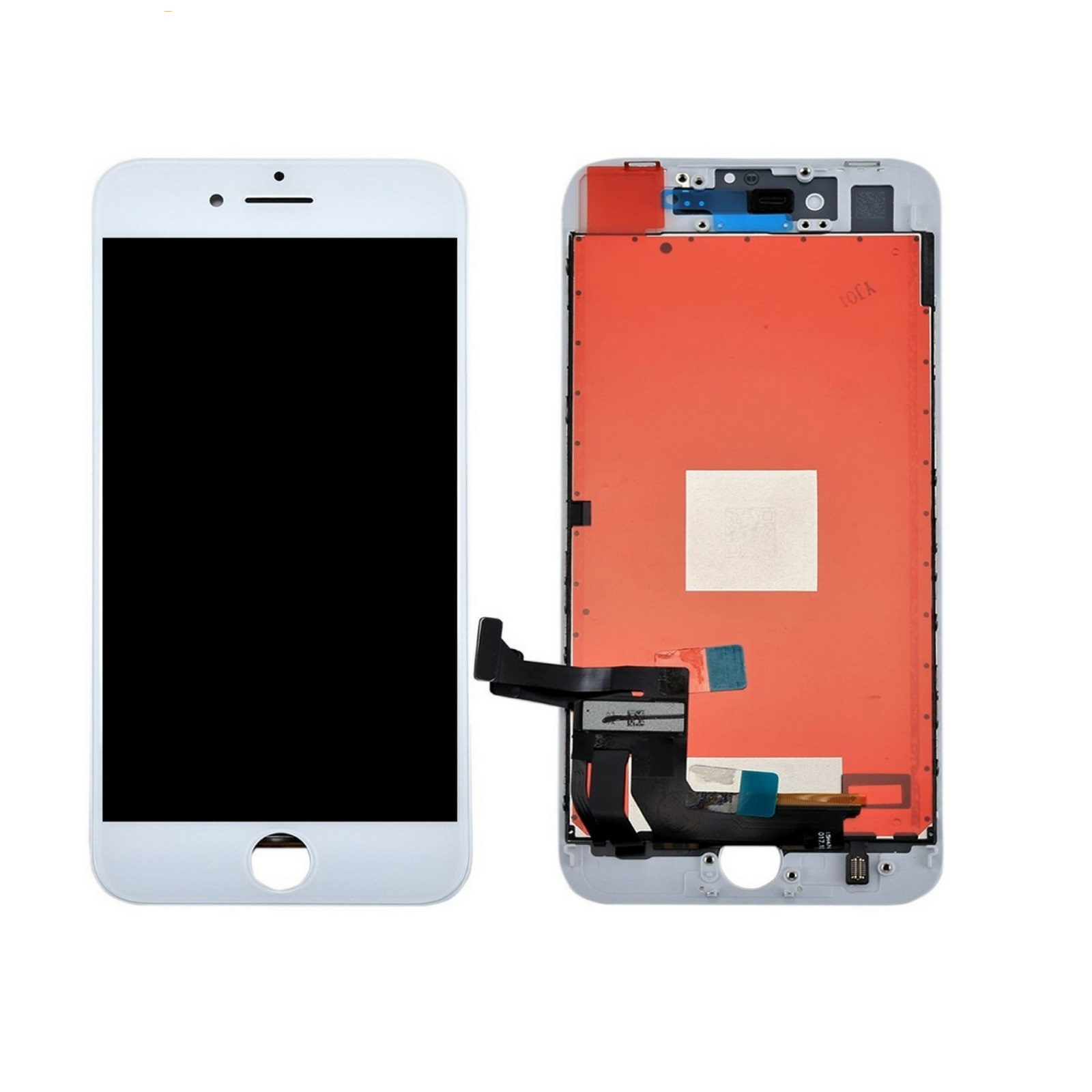 Touch screen lcd display frame bianco per apple iphone 8 modello A1863, A1905, A1906 (Japan1)+ biadesivo