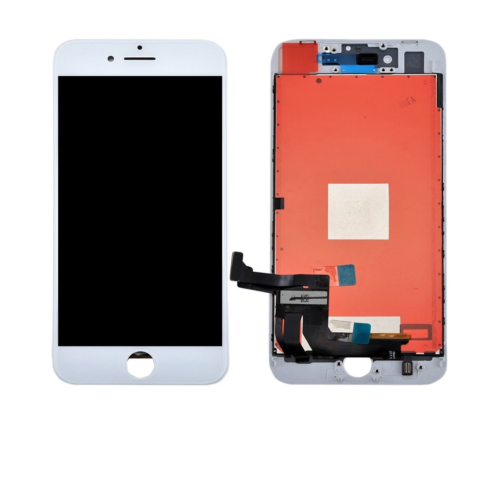 Touch screen lcd display frame bianco per apple iphone 8 plus modello A1864 A1897 + biadesivo