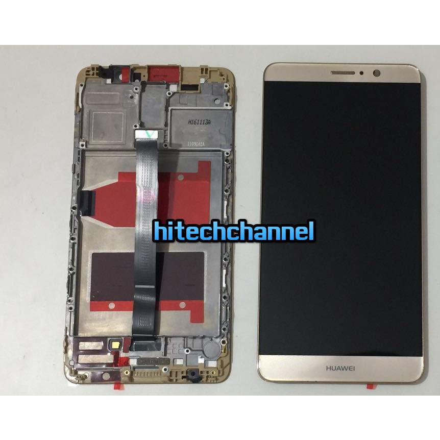 TOUCH SCREEN LCD DISPLAY FRAME HUAWEI ASCEND MATE 9 gold oro  MHA-L00  MHA-L09  MHA-L29 originale+BIADESIVO