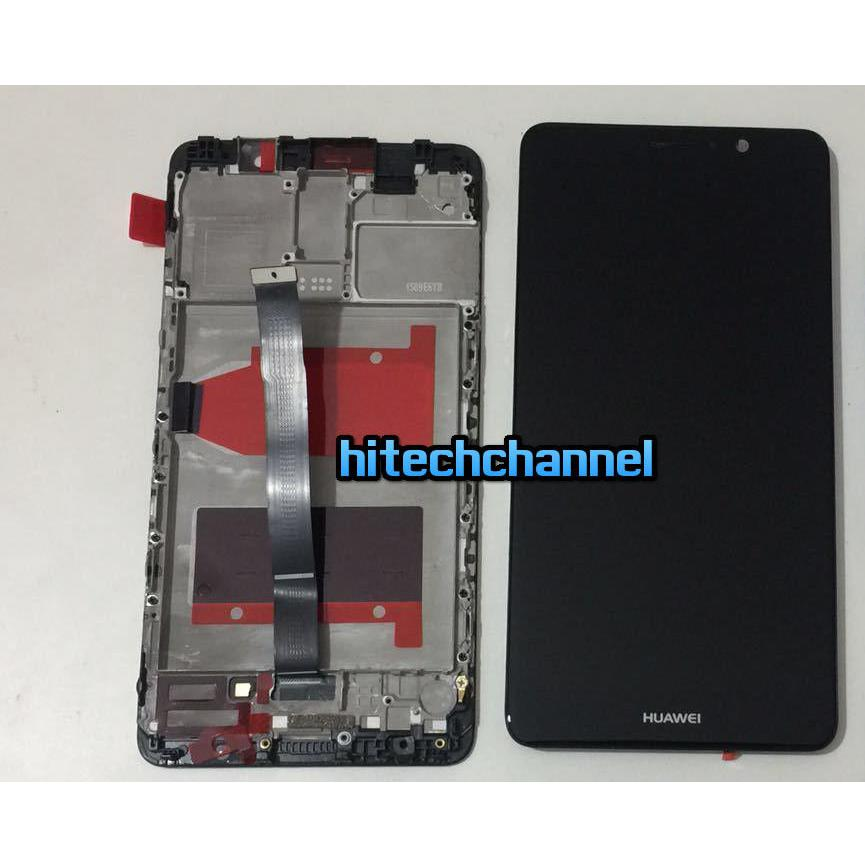 TOUCH SCREEN LCD DISPLAY FRAME HUAWEI MATE 9 nero MHA-L00  MHA-L09  MHA-L29 originale+colla B7000 kit 9 in 1 e biadesivo