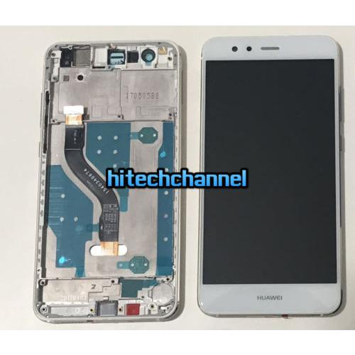 TOUCH SCREEN LCD DISPLAY FRAME HUAWEI ASCEND P10 LITE bianco +BIADESIVO