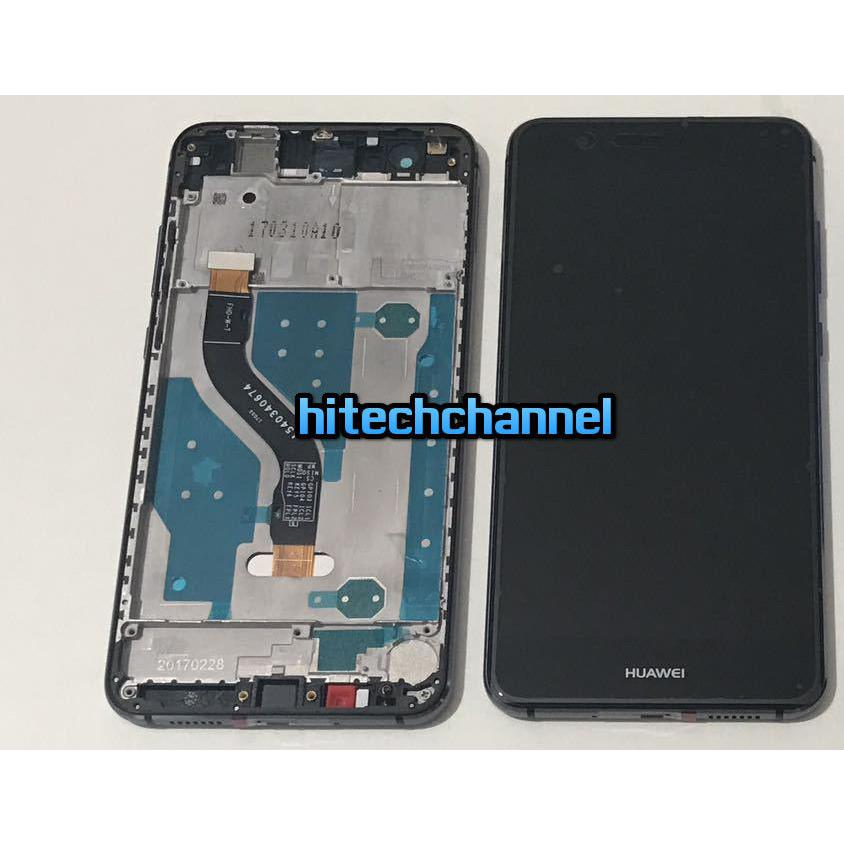 TOUCH SCREEN LCD DISPLAY FRAME HUAWEI ASCEND P10 LITE NERO+BIADESIVO