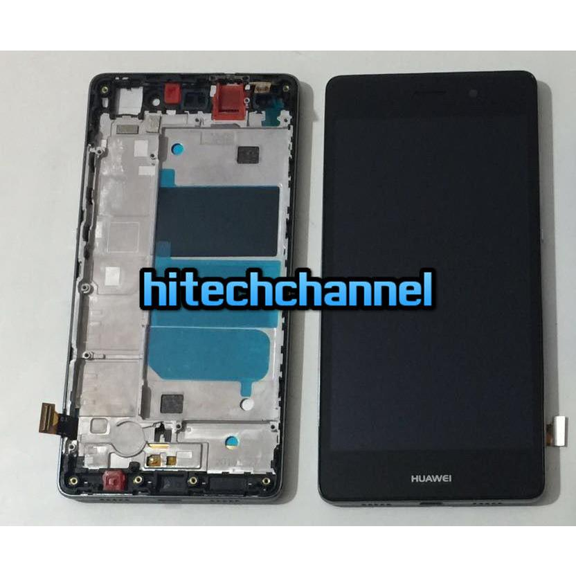 TOUCH SCREEN LCD DISPLAY FRAME HUAWEI ASCEND P8 LITE nero  +BIADESIVO