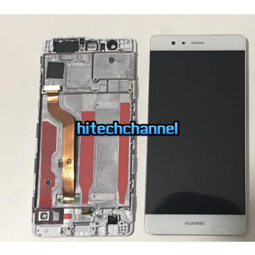 TOUCH SCREEN LCD DISPLAY FRAME HUAWEI ASCEND P9 BIANCO +BIADESIVO
