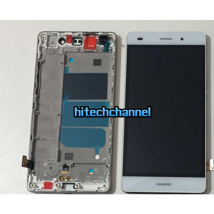TOUCH SCREEN LCD DISPLAY FRAME HUAWEI ASCEND P9 LITE BIANCO originale+BIADESIVO
