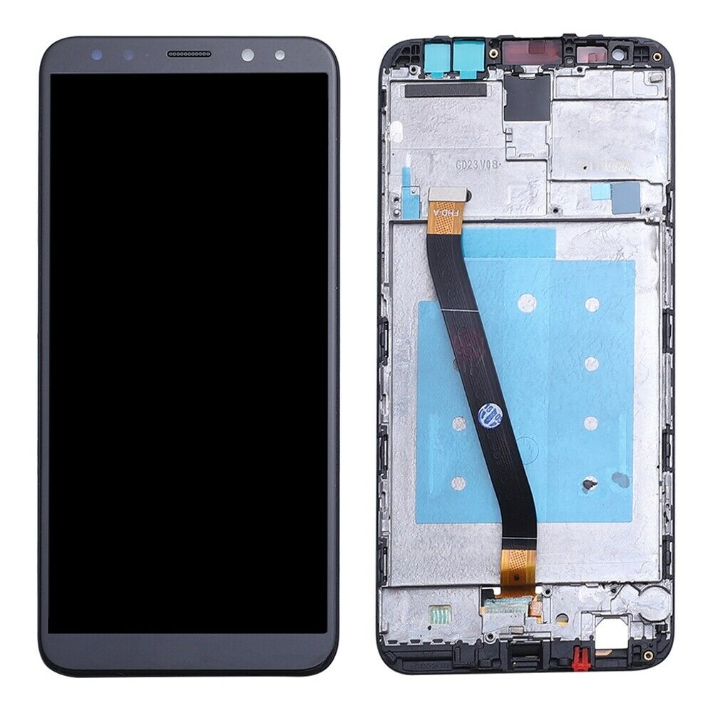 TOUCH SCREEN LCD DISPLAY FRAME HUAWEI MATE 10 LITE NERO RNE-L21 L01 +colla B7000 kit 9 in 1 e biadesivo