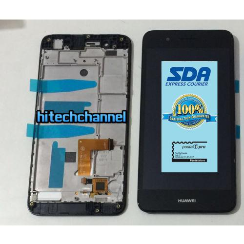 Touch screen LCD display FRAME HUAWEI P8 LITE SMART NERO TAG L01 GR3 originale