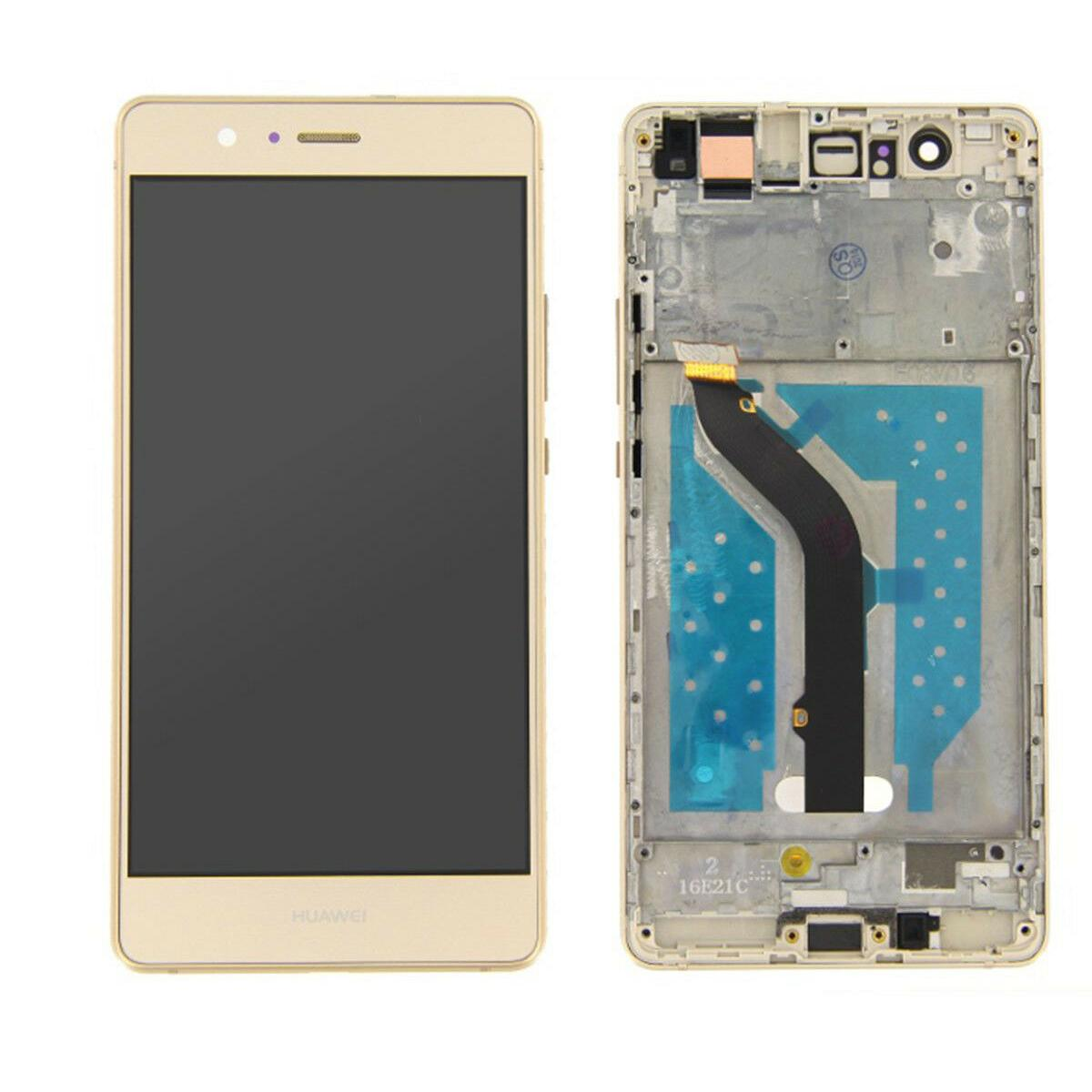 TOUCH SCREEN LCD DISPLAY FRAME HUAWEI P9 LITE gold +colla B7000 kit 9 in 1 e biadesivo