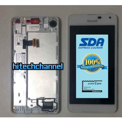 TOUCH SCREEN LCD DISPLAY FRAME MICROSOFT NOKIA LUMIA 650 650 DUAL SIM BIANCO ORIginale