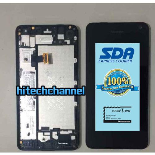 TOUCH SCREEN LCD DISPLAY FRAME MICROSOFT NOKIA LUMIA 650 650 DUAL SIM neroORIginale