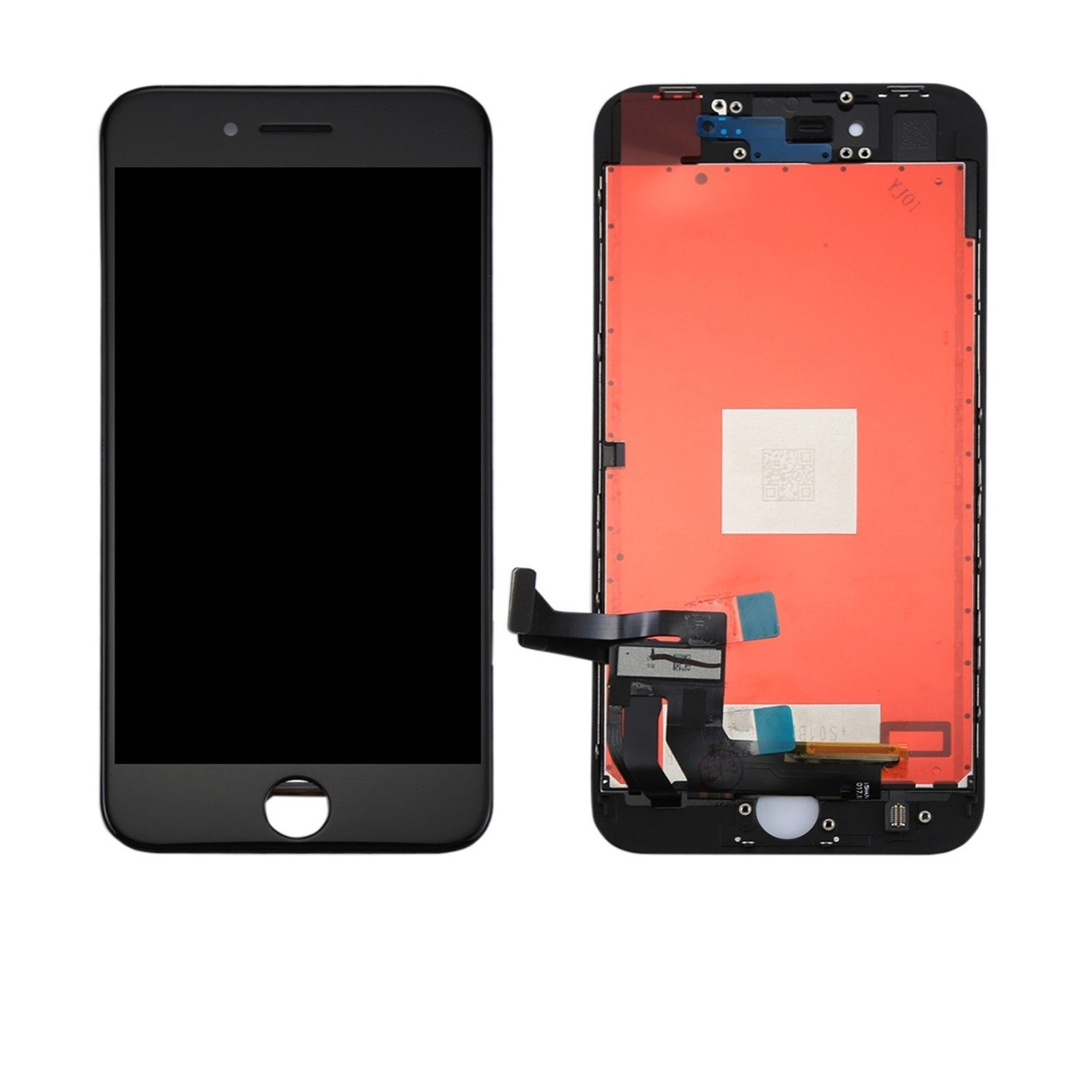 Touch screen lcd display frame nero per apple iphone 8 plus modello A1864 A1897 + biadesivo