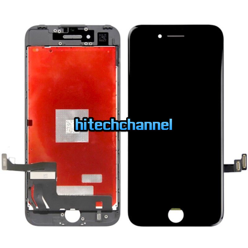 Touch screen lcd display frame per apple iphone 7 nero 4.7 assemblato