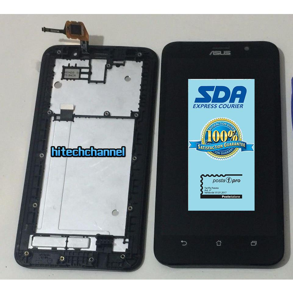 Touch screen lcd display FRAME per ASUS ZENFONE 2 ZE551ML Z00AD + biadesivo