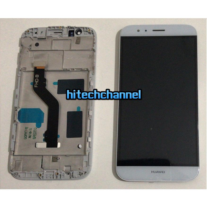 Touch screen lcd display FRAME per HUAWEI G8 bianco 5.5 +colla B7000 kit 9 in 1 e biadesivo