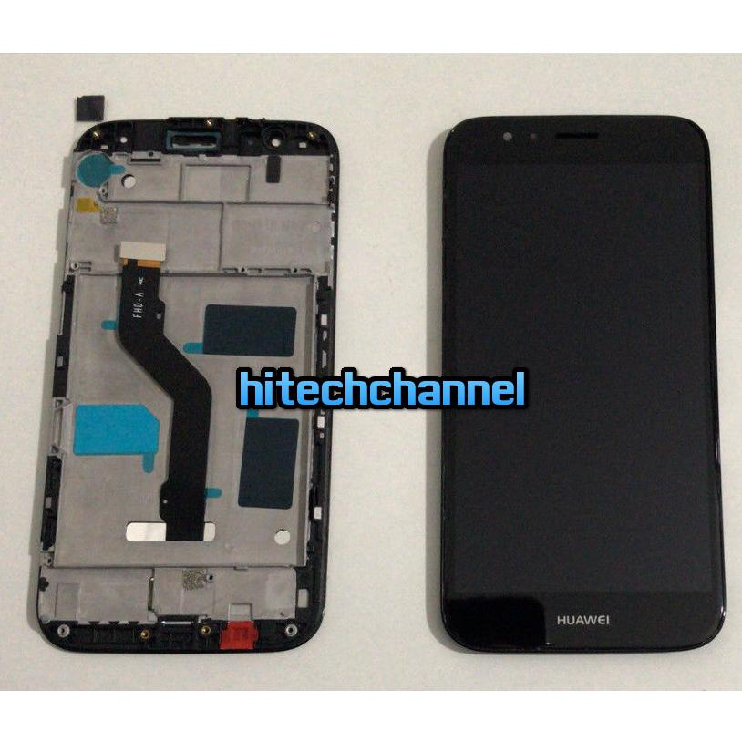 Touch screen lcd display frame per Huawei G8 nero 5.5 +colla B7000 kit 9 in 1 e biadesivo