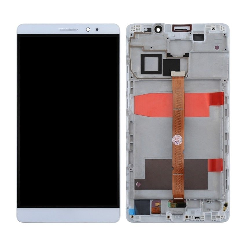 Touch screen lcd display Frame per Huawei Ascend Mate 8 bianco 6 pollici +biadesivo