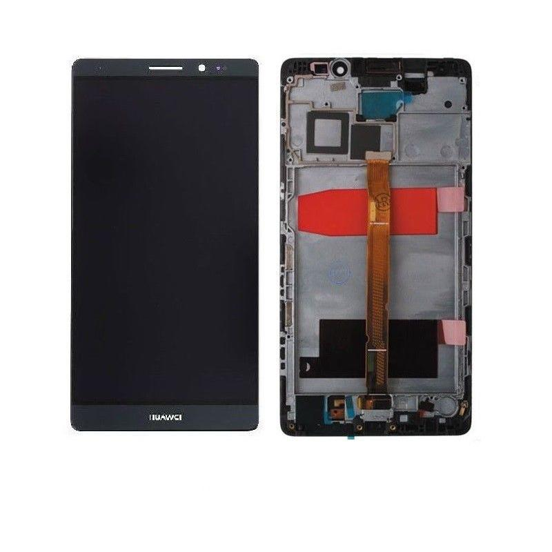 Touch screen lcd display frame per Huawei Ascend Mate 8 nero 6 pollici + Biadesivo