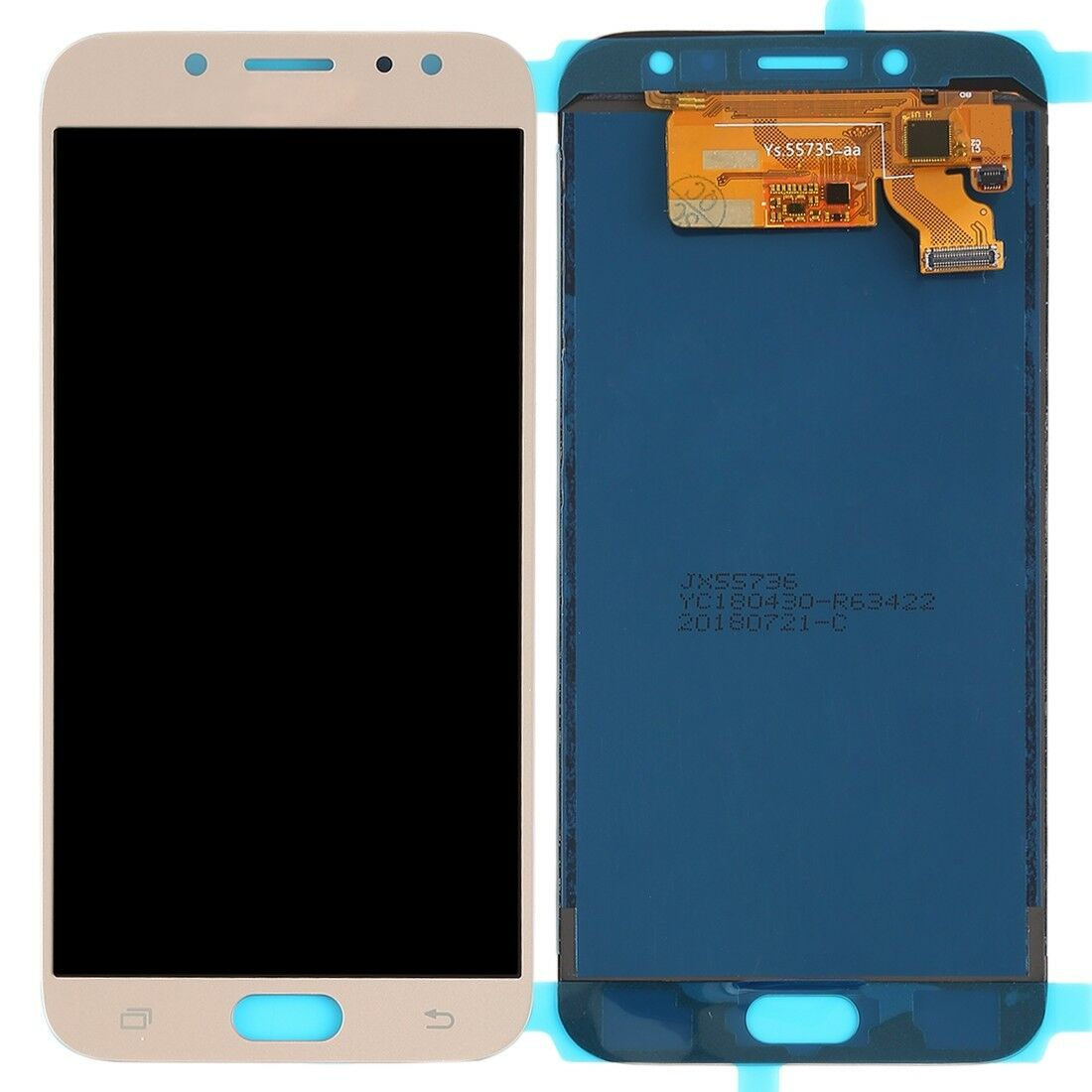 TOUCH SCREEN LCD DISPLAY GOLD ORO Samsung Galaxy J7 2017 J730 SM-J730F SM-J730F/DS+ kit 9 in 1 biadesivo e colla b7000